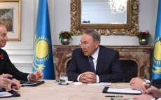 Meeting with the former British Prime Minister Tony Blair
