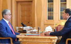 The Head of State receives Nurlan Nogayev, Akim of Atyrau region