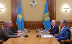 President of Kazakhstan receives Stanislav Zas, State Secretary of the Security Council of Belarus